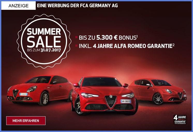 alfa romeo summer sale