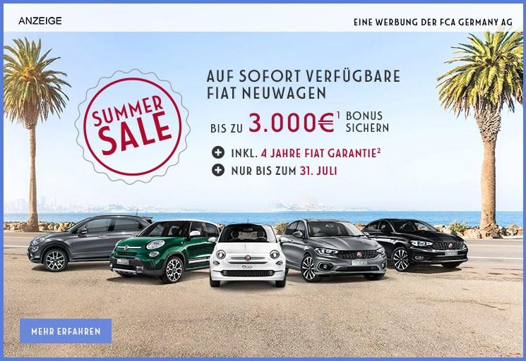 Fiat summer sale