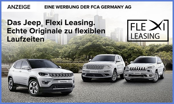 Das Jeep® Flexi Leasing. Echte Originale zu flexiblen Laufzeiten.