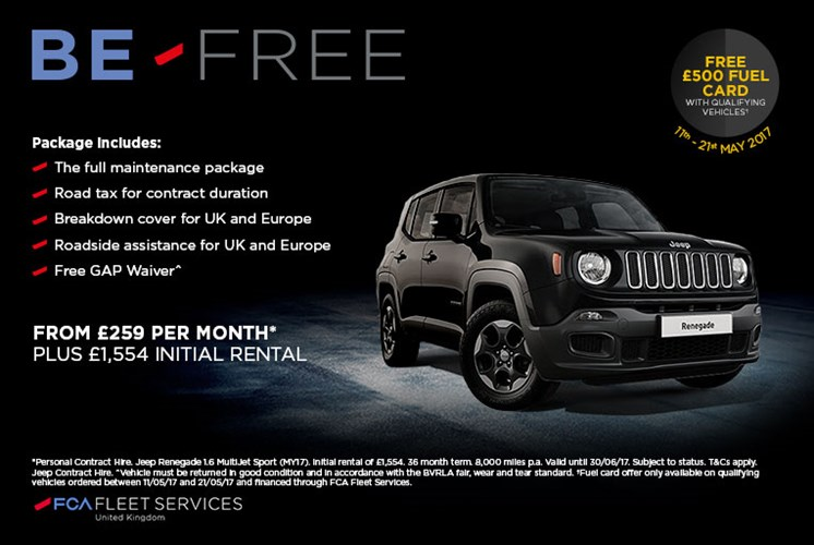 Jeep-Renegade-Be-Free-Promotion-Offer